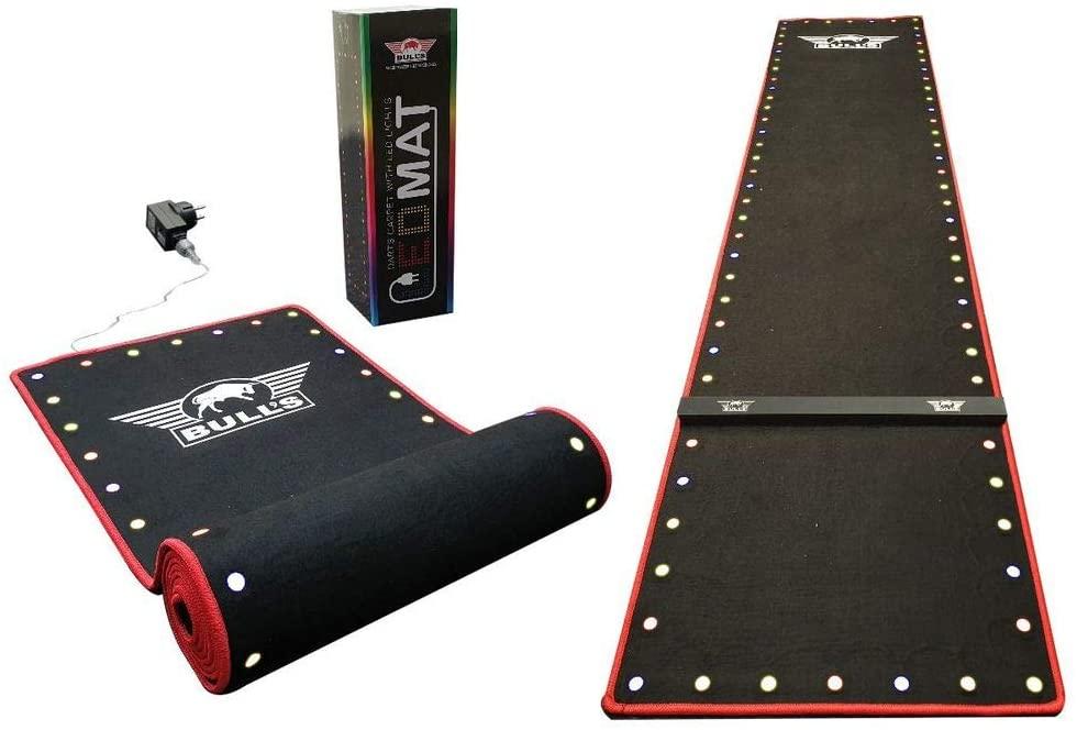 Bull's LED Carpet Dartmatte Teppich 300 x 60 cm Holz-Oche/Linie Dart Schutzmatte